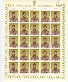 Luxembourg 1967 - Complete sheets 5 x 5 Caritas stamps 1967