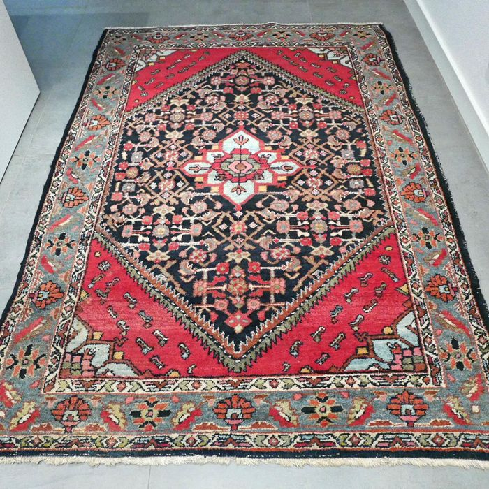 Magnificent semi-antique Hamadan Persian carpet - 203 x 143