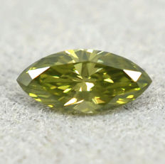 Olive green diamond - 0.195 ct - no reserve price