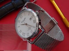 eichmuller classic dress white dial  watch with mesh strap