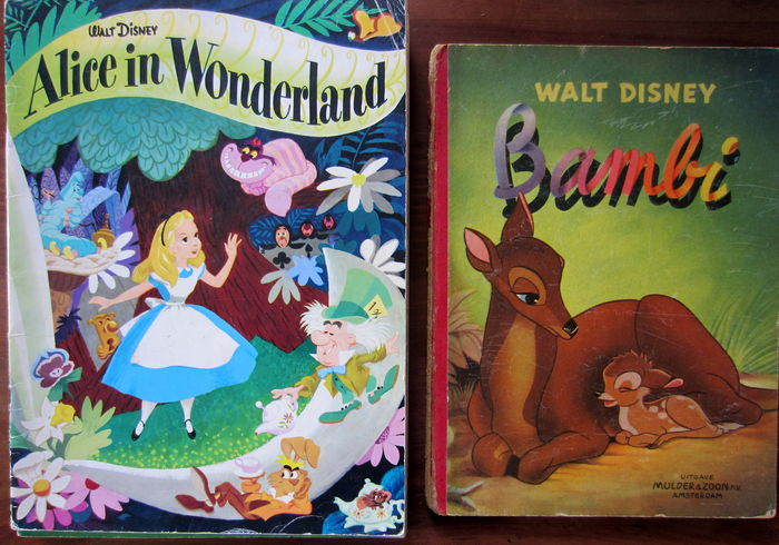 Disney; Lot with 9 vintage Walt Disney picture books - c. 1950-1975