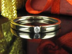 Diamond solitaire ring 14kt/585 gold ring