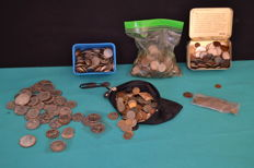 World - Lot of about 6,9 kg of coins (majority of Portugal & Spain)
