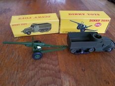 Dinky Toys-GB/FR - Scale 1/48 - 5,5 Medium Gun No.692 and Half Track M3 No.822