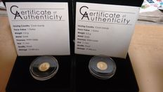 Cook Islands - 1 Dollar 'Popes' 2013 (lot of 2 coins) - Gold