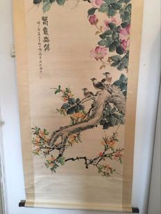 A scroll painting - China - mid 20th century