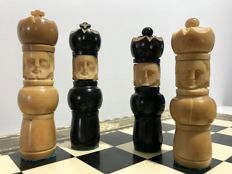 Old and rare ivory Russian chess