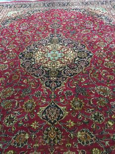 Wonderful hand-knotted Persian XL MASHAD with plant-based colours! Approx. 300 x 400 cm - in very good condition -PERSIA- fast shipping!