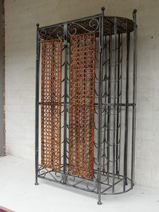 Beautiful wrought iron wine rack for 36 bottles