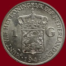 The Netherlands – 1 guilder 1944EP Wilhelmina – silver.