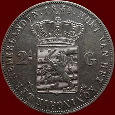 The Netherlands – 2½ guilder coin 1859, Willem III – silver