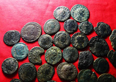 Roman Empire – Lot of 41 AE Roman coins (late Roman Empire) – Different emperors