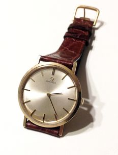 Omega, gentlemen's fancy wristwatch, 14kt gold, marked
