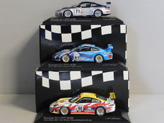 Minichamps - Scale 1/43 - Kavel met Lot with 3 x Porsche 911 GT3 RSR 24h Le Mans