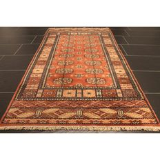 Orient carpet Buchara Jomut around 1980 / 1990 pattern made in Pakistan 185 x 84 cm Carpet Tappeto Tapis Tapijt Teppich Rug