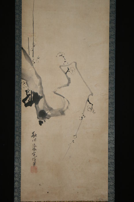 "Scroll painting Kano Hironobu  融川法眼 ""Branch"" - Japan - early 19th century"