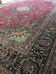 Magnificent, hand-knotted XL Persian MASHHAD with plant-based colours! Approx. 300 x 400 cm - In very good condition - PERSIA - Fast shipping!