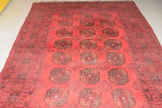 Magnificent, old, Afghan rug, approx. 300 x 200 cm.