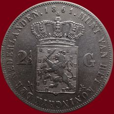 The Netherlands – 2½ guilders 1861 Willem III – silver