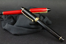 Pair of Aurora pens - roller and fountain pen