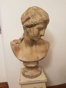 Shabby chic style bust - brand Blanc Mariclò - Italy, 20th century
