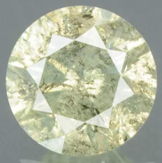Diamond – greyish yellow – no reserve price