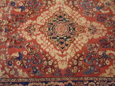 Hand-knotted rug, 20th century.