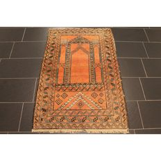 Antique handwoven Persian collector's carpet Belutsch around 1930 Collector Rug Carpet Tappeto Rug Made in Iran 146x94cm