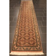 Oriental carpet, Indo Bidjar Herati, runner, 340 x 80 cm, made in India