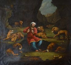 Unknown (18th/19th century) - Daniel and the lions