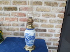 Beautiful Japanese vase converted to oil lamp 1930