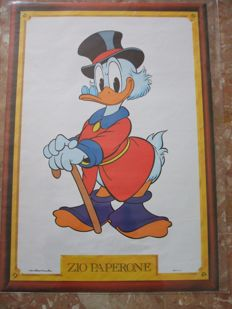 Walt Disney - 4x posters-drawings by Marco Rota, gifted to subscribers - 1980s