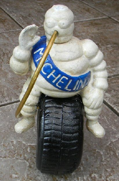 Michelin - Bibendum on tyre - recent object