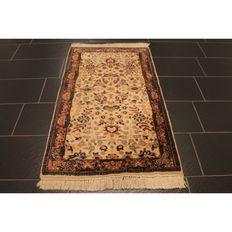 Orient carpet Indo Ghom 145 x 80 cm Made in India end of the last century Tappeto Tapis Carpet