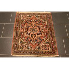 Rare antique Persian carpet Heriz Karadja 1960 natural colours Made in IRan 90 x 77 cm Tappeto Tapis Tapijt Rug Carpet