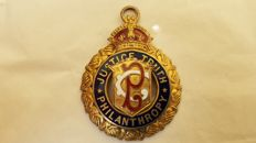 English Masonic lodge order medal
