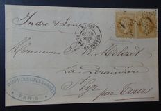 "Front letter ""Ballon Monté"" from 1870"