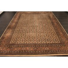 Oriental carpet Indo Bidjar Herati 250 x 350cm, made in India at the end of the last century, Tappeti carpet