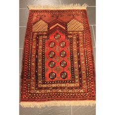 Old Afghan Orient carpet prayer rug Mihrab wool on wool around 1930 Made in Afghanistan 120 x 80 cm
