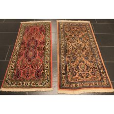 Very beautiful Persian carpet, Sarough set, made in Iran, 135 x 65 cm