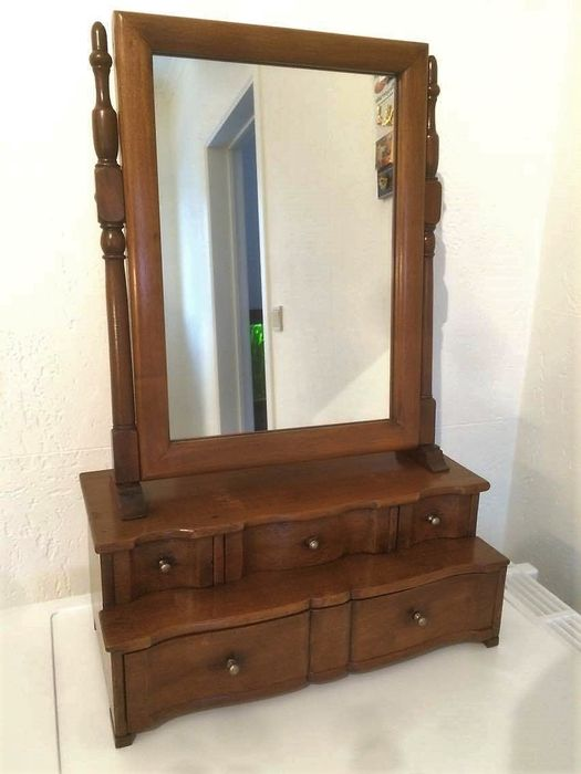 Victorian dressing table mirror with drawers   England   ca. 1890