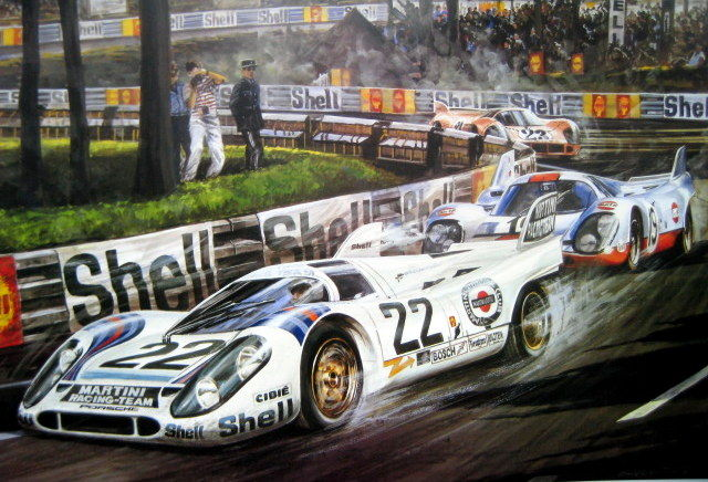 fine art print le mans 1971 porsche 917k helmut marko gijs van lennep catawiki. Black Bedroom Furniture Sets. Home Design Ideas