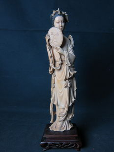 Antique ivory statue – China – Around 1920