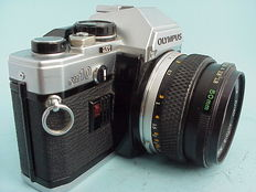 Olympus OM-10 single-lens reflex with standard lens Zuiko Auto-S  50 mm 1 :1.8 from 1979