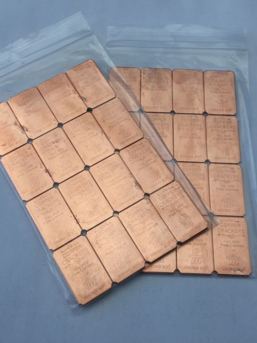 1 Oz Copper Bars Lot Of 16 Bullion Other Bullion