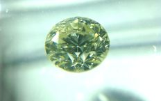 0.51 ct brilliant cut, natural diamond, W-X (Light Yellow)