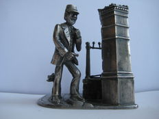 Solid Pewter - Sculpture of Postman - from The Evergreen Studios - Collectors Item