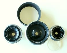 Cameras, lenses and accessories. Lot of 10 pieces