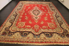Exclusive hand-knotted Persian Palace carpet age flowers Lawer Kerman signed unica 240 x 365 cm carpet