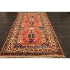 Collector's item antique old handwoven Oriental carpet, Derbend Kazak Kasak 273 x 155 cm around 1930 Tapijt Tappeto Tapis carpet old rug